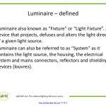 define luminaire