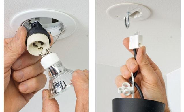 installer un luminaire au plafond