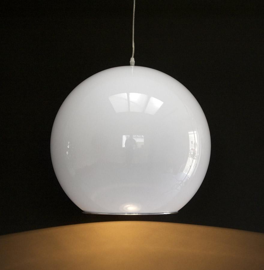 luminaire boule blanche