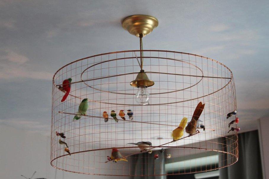 luminaire cage à oiseaux