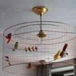 luminaire cage oiseau