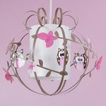 luminaire chambre fille rose