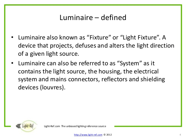 luminaire define