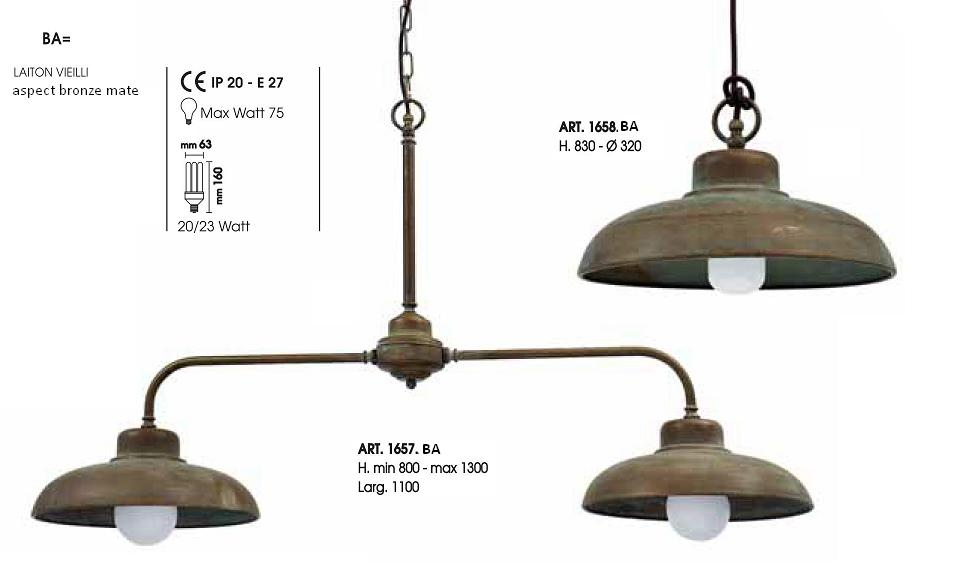 luminaire double suspension
