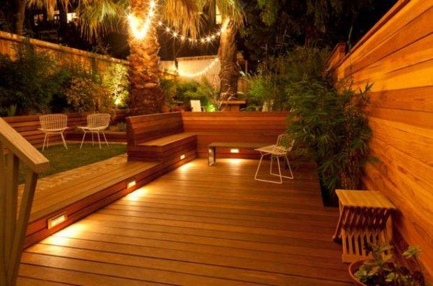 luminaire terrasse bois