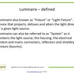 luminaires meaning