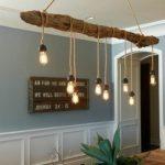suspension luminaire bois flotté